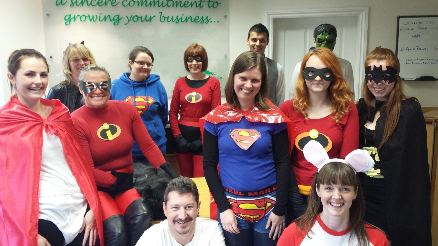 A 'super' day at the office.