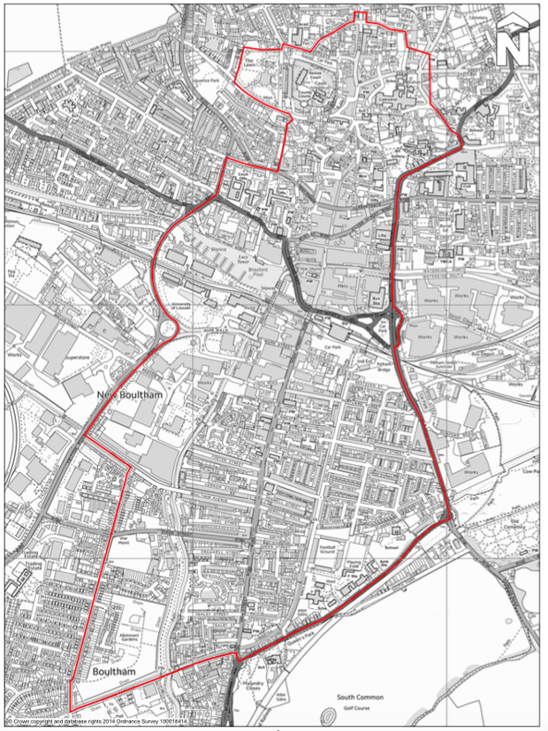 The area covered by the legal highs and alcohol ban in Lincoln.