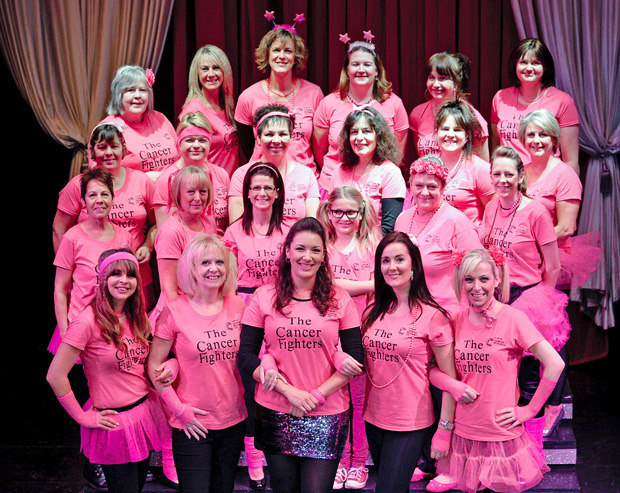 The full Cancer Fighters group. Photo: Kev Newton