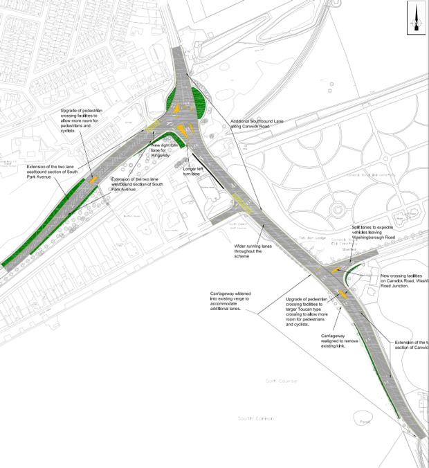 Canwick road works begin on January 5, 2015. Map: LCC