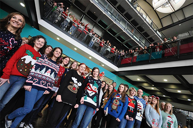 Staff at the University of Lincoln.