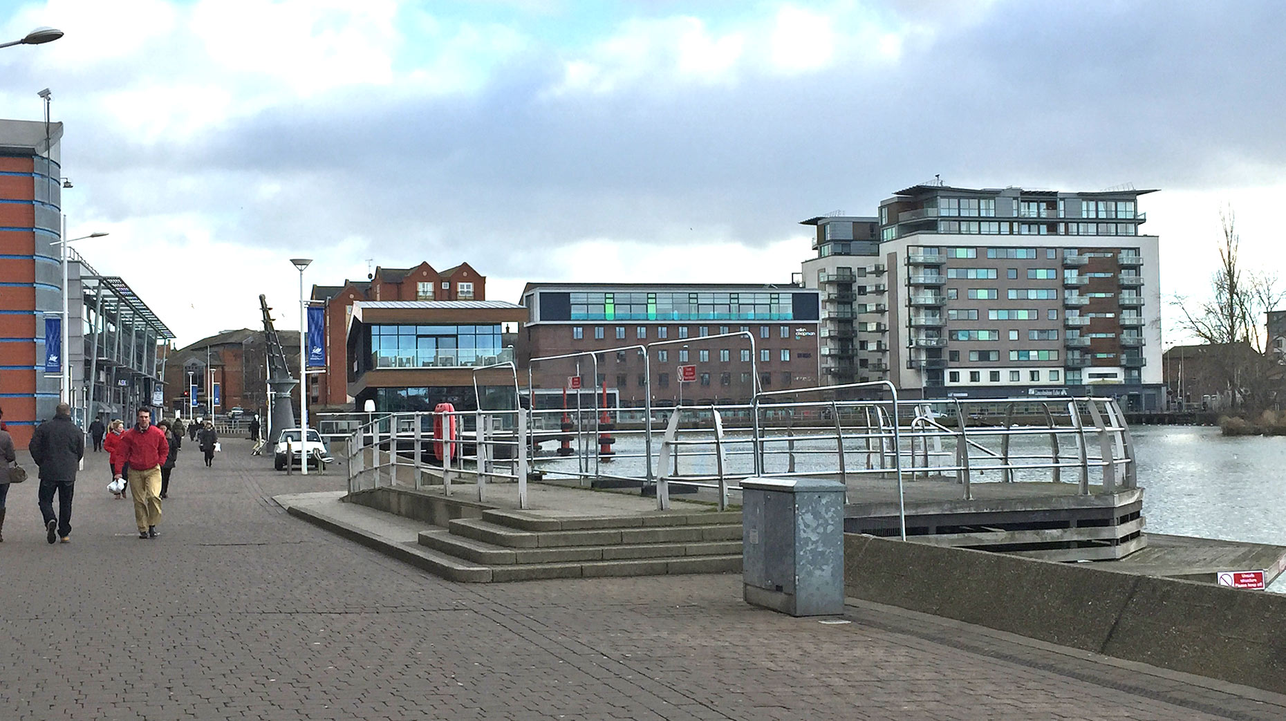 The current viewing platform on the Brayford site. Photo: The Lincolnite