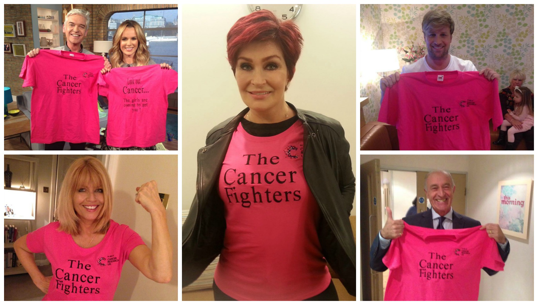 Celebrities offered their support for the cause and have been wearing their custom t-shirts.