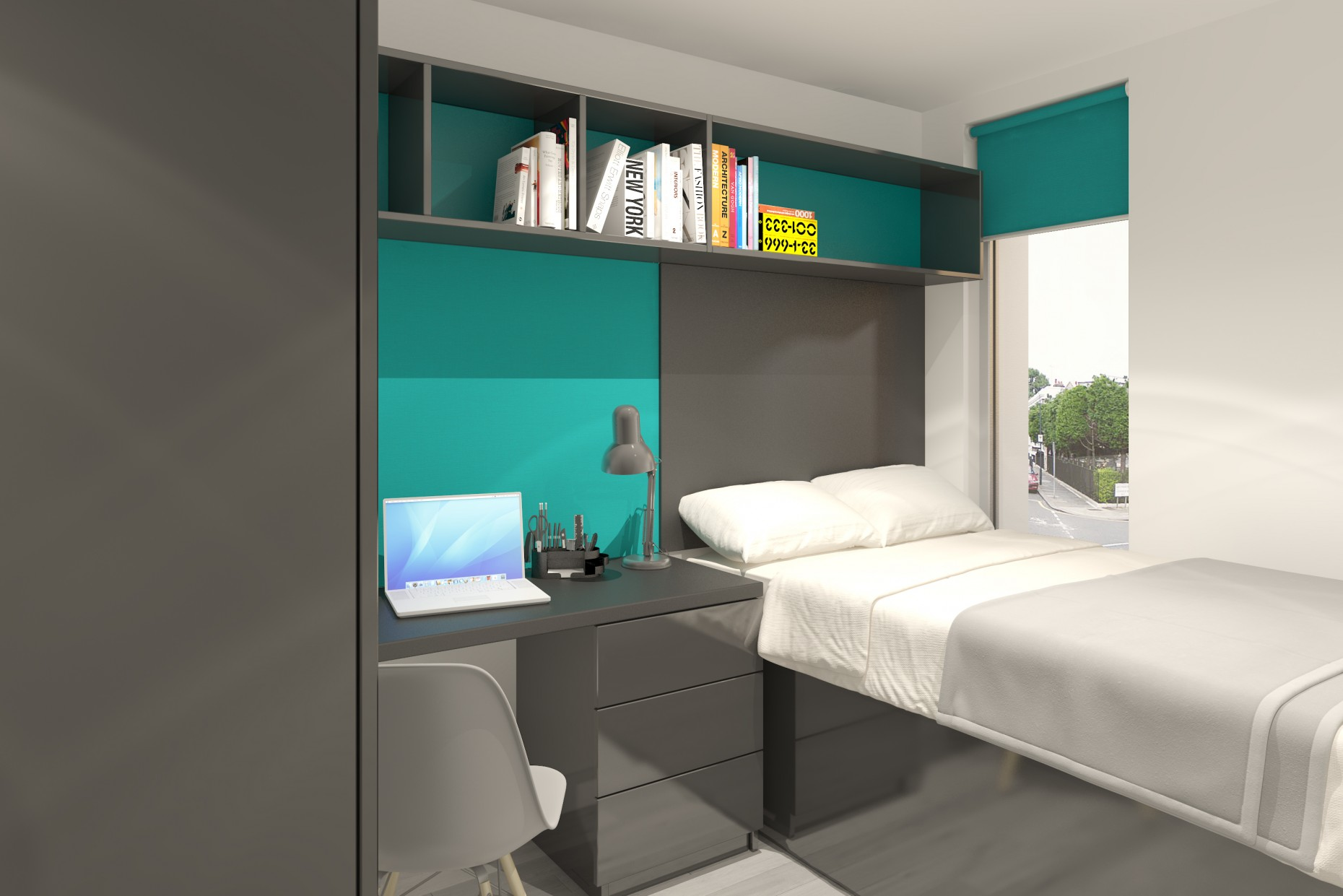 Work begins on high spec student flats in lincoln city centre for Student bedroom designs