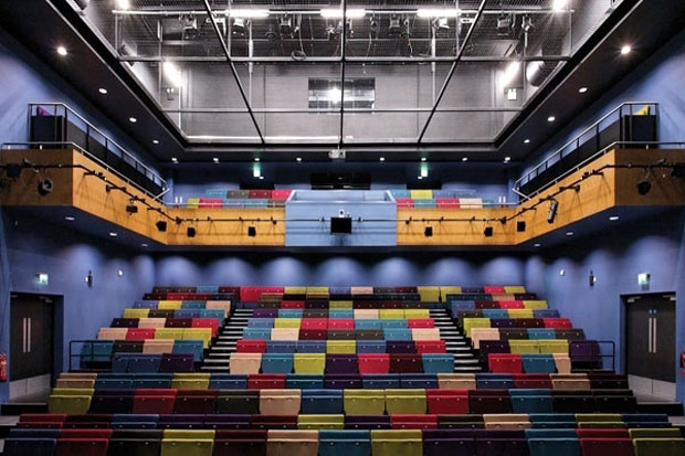 Inside the LPAC auditorium, where The Lincoln Debate programme will be held.