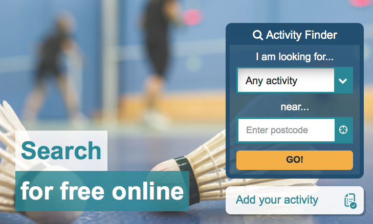 The new Activity Finder tool is also available on mobile.