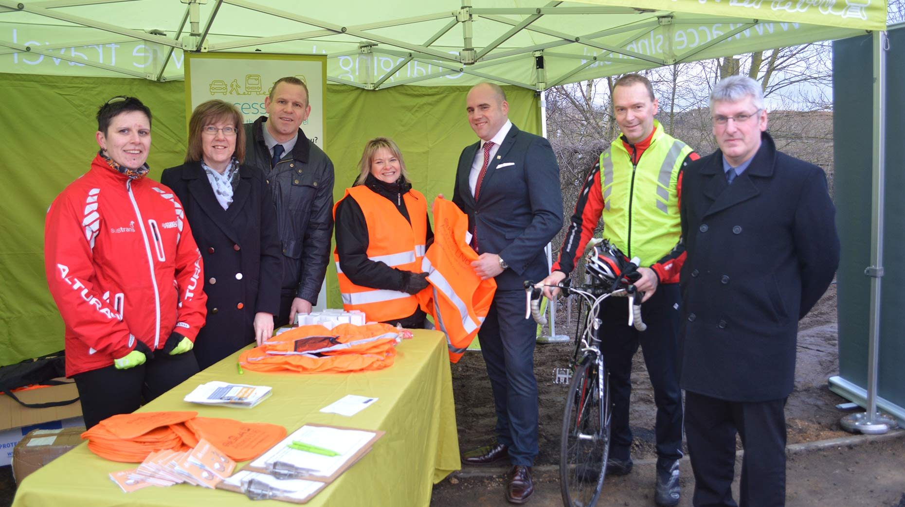 The team celebrated the official opening with a winter safety event.