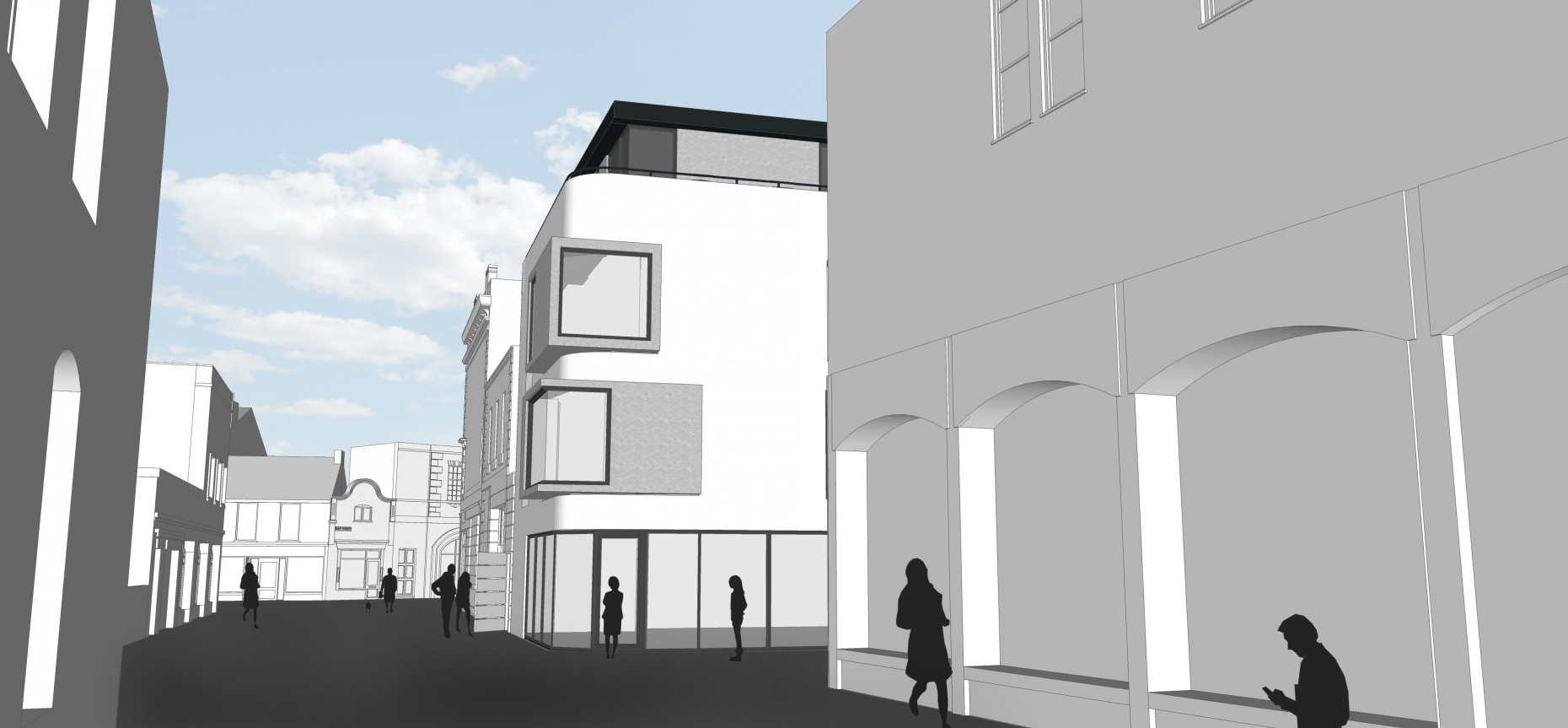 Student accommodation designs at Water House.