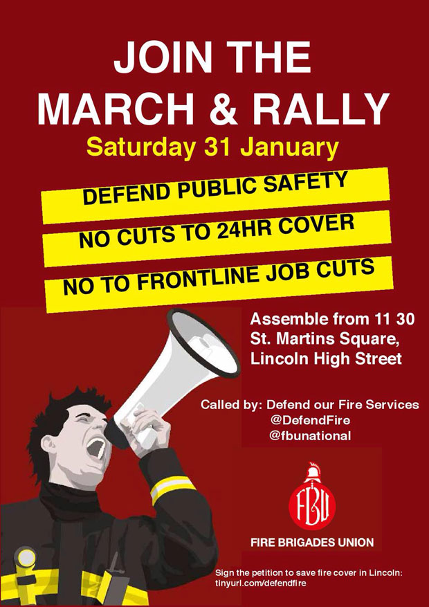 The campaigners' poster for the protest on Saturday.