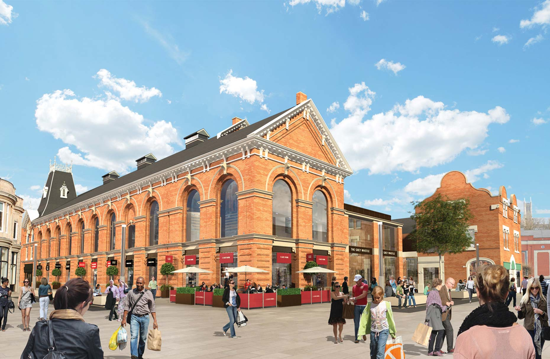 Lincolnshire Co-operative plans to remove modern extensions to the Corn Exchange and revamp the old facade.