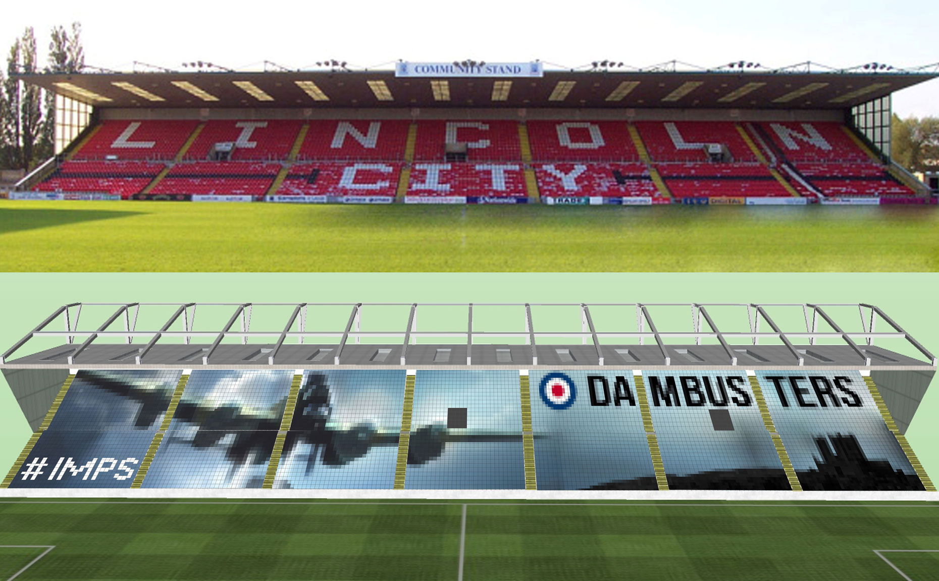 Lincoln City's plans to create a giant Dambusters mosaic to raise funds