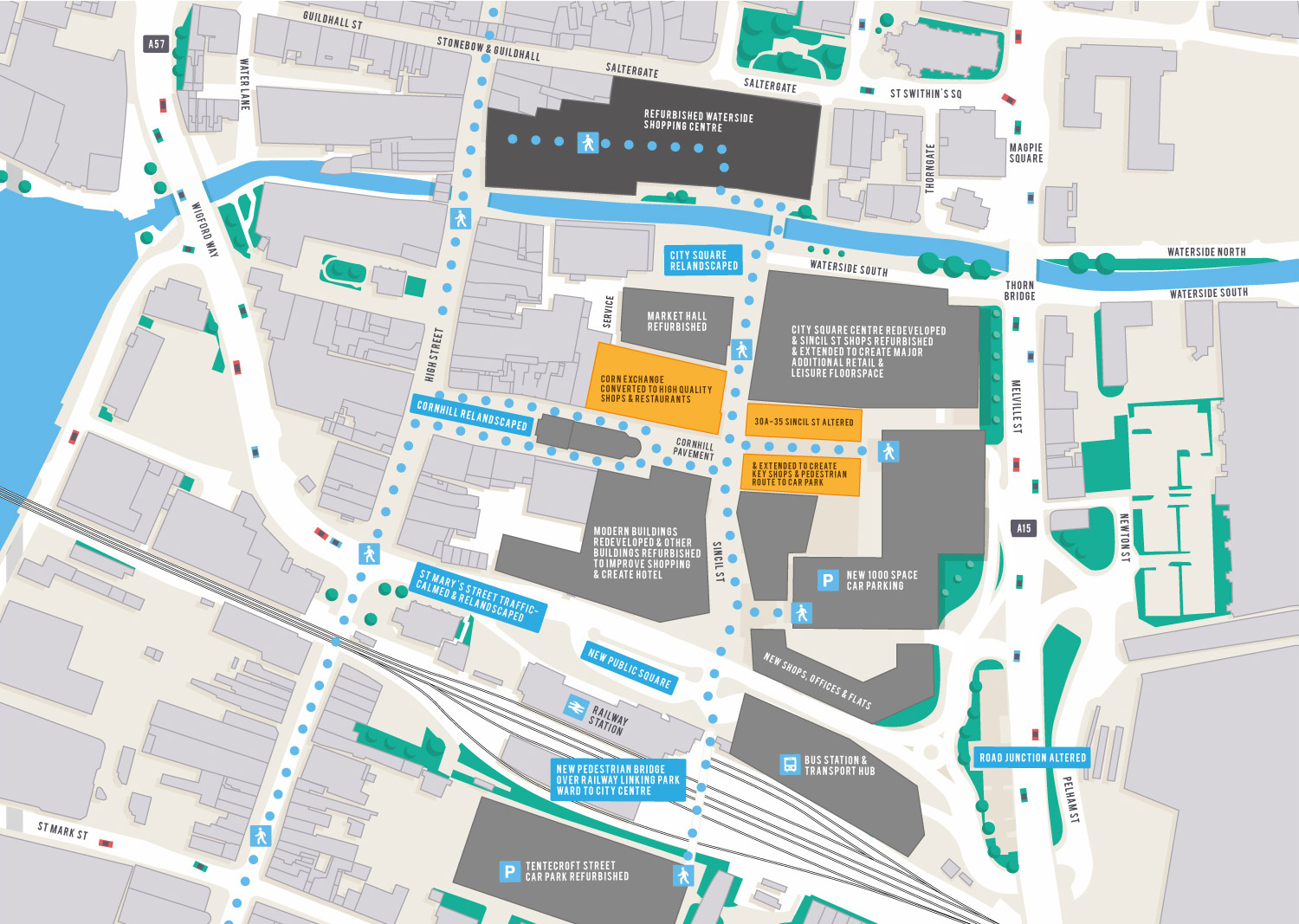 An overview of the Cornhill redevelopment as part of the wider Lindongate scheme