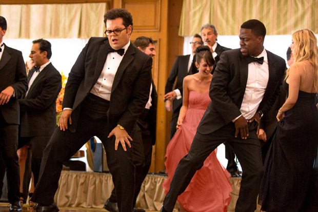 Kevin Hart and Josh Gad in The Wedding Ringer (2015).  Photo by Matt Kennedy for Screen Gems / Sony Pictures Entertainment