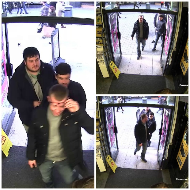 CCTV images released of the three men Lincolnshire Police are looking to speak to.