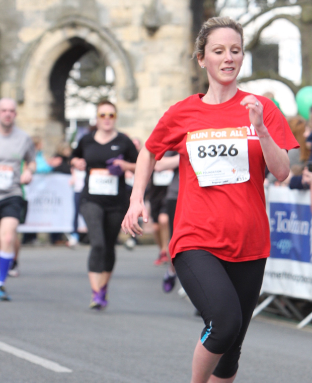 Lincoln's Labour MP candidate Lucy Rigby taking part in the Lincoln 10k road race on March 22.
