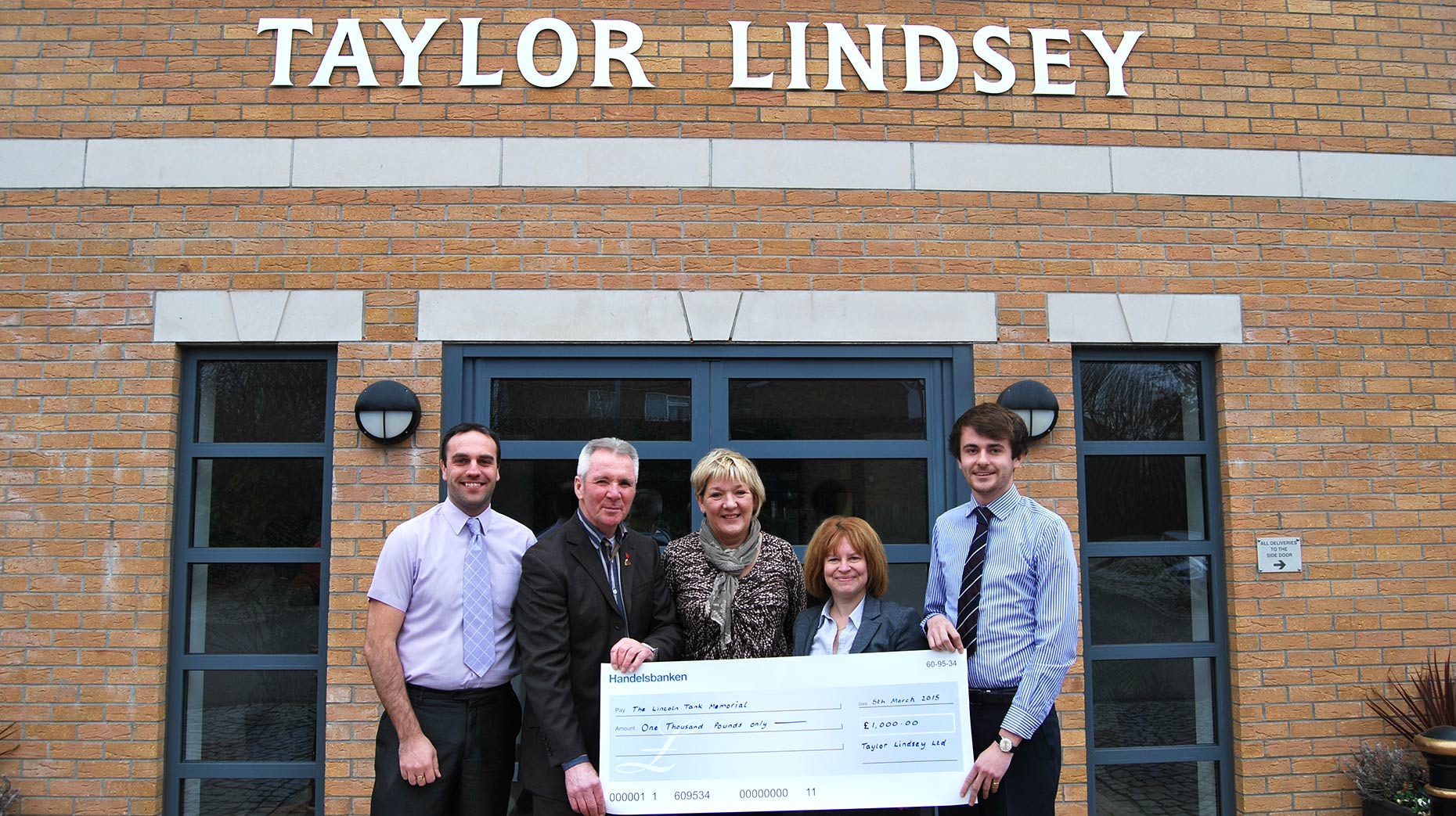 The Taylor Lindsey team donated £1,000 to the fund this week.
