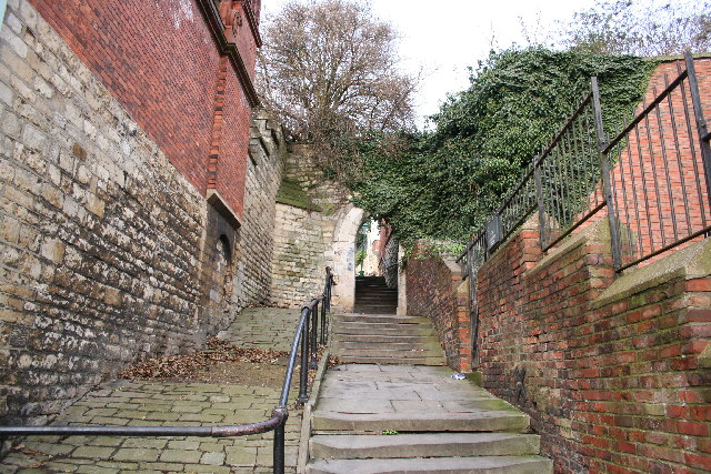The famously haunted Greestone steps in Lincoln. Photo: Richard Croft