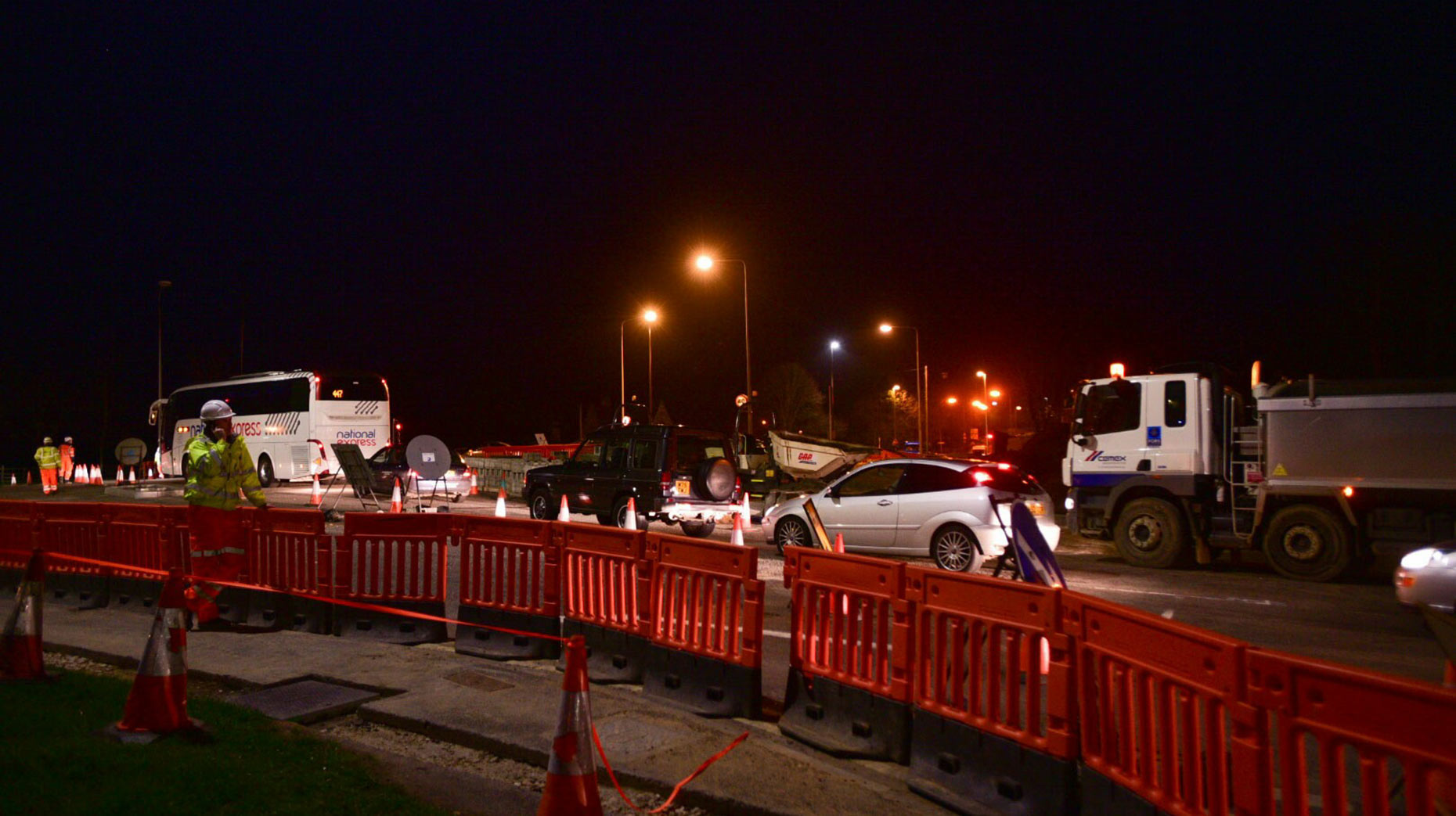 Overnight road closures on Canwick Road and Canwick Hill will continue for another month. Photo: Steve Smailes for The Lincolnite