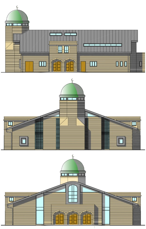Designs of the mosque to be built on Dixon Street in Lincoln