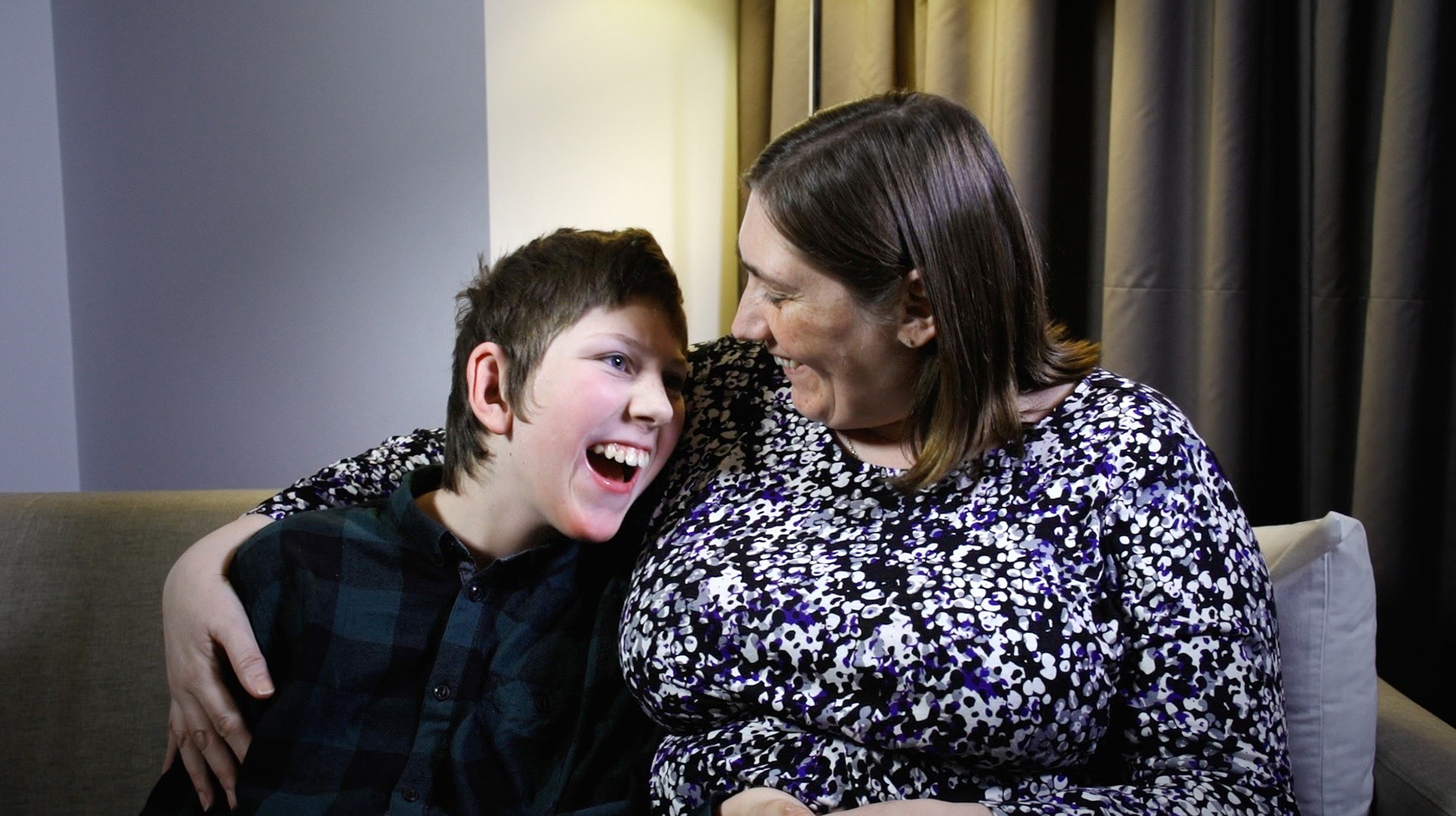 Suzanne Adams with her son James. Photo: Access Legal