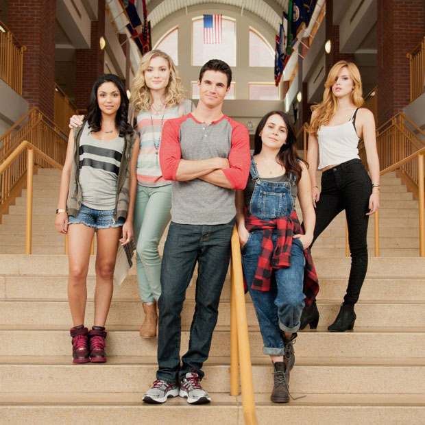 Mae Whitman, Robbie Amell and Bella Thorne in The DUFF. Photo: Granville Pictures Inc