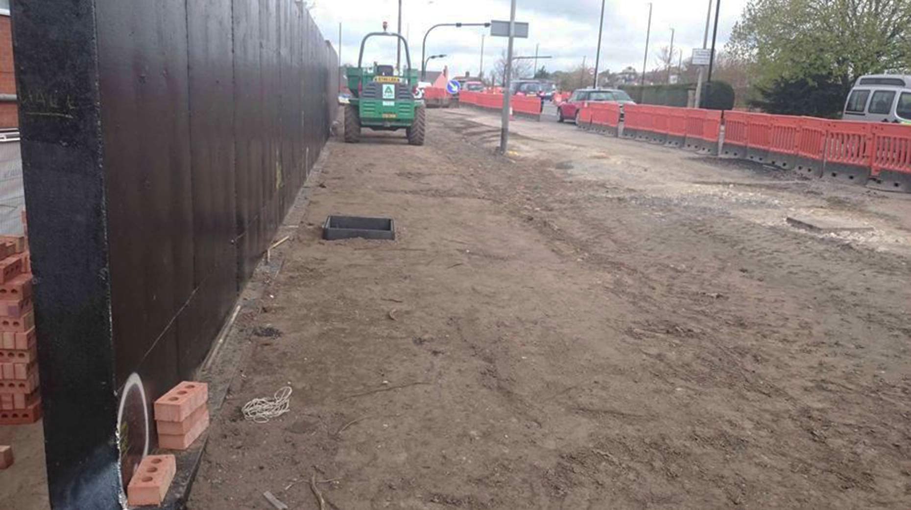 Work is ongoing to bring an additional lane to the Canwick Road area. Photo: LCC
