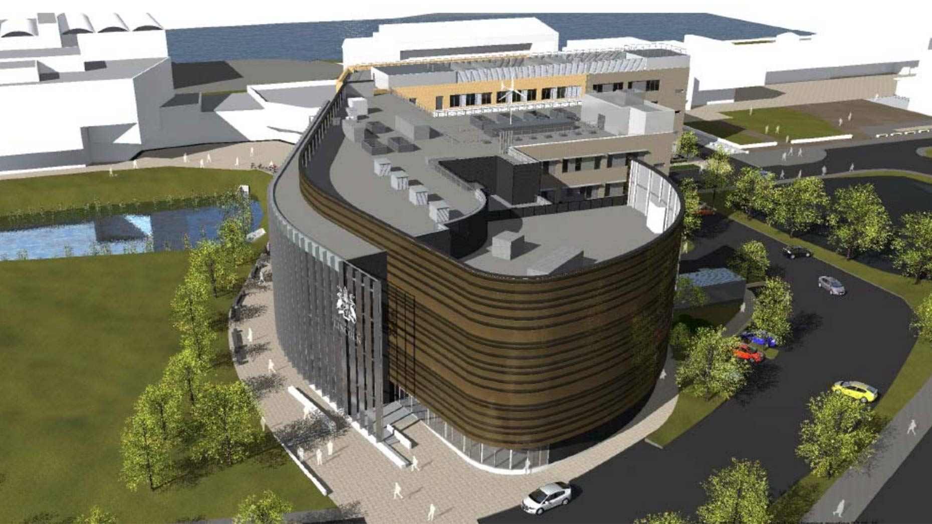 The building stems from the existing Engineering hub on the site.