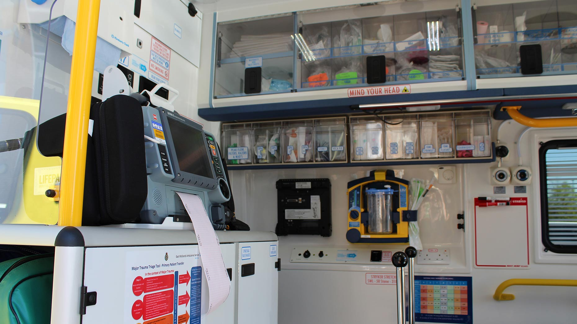 Inside, the new ambulances has the best technology