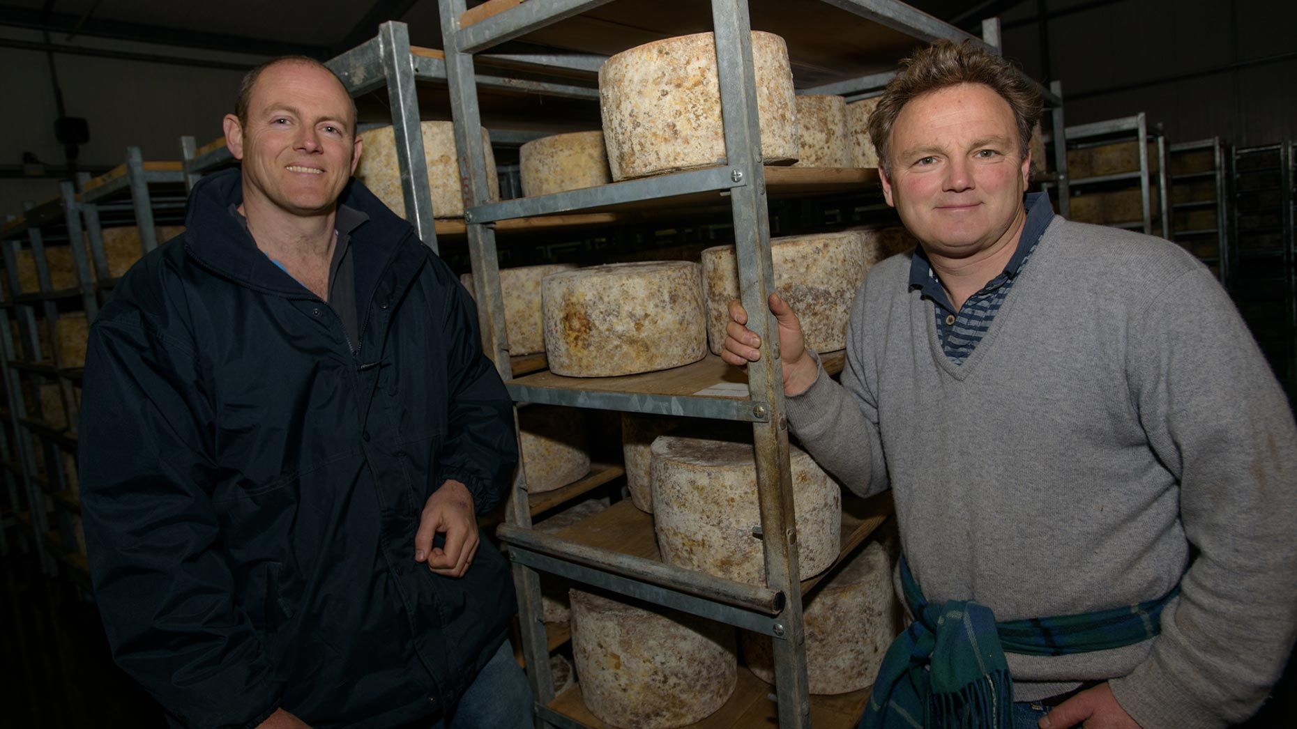 Bothers, Tim and Simon Jones in Lincolnshire Poacher's Cheese cellar. Photo: Steve Smailes for The Lincolnite