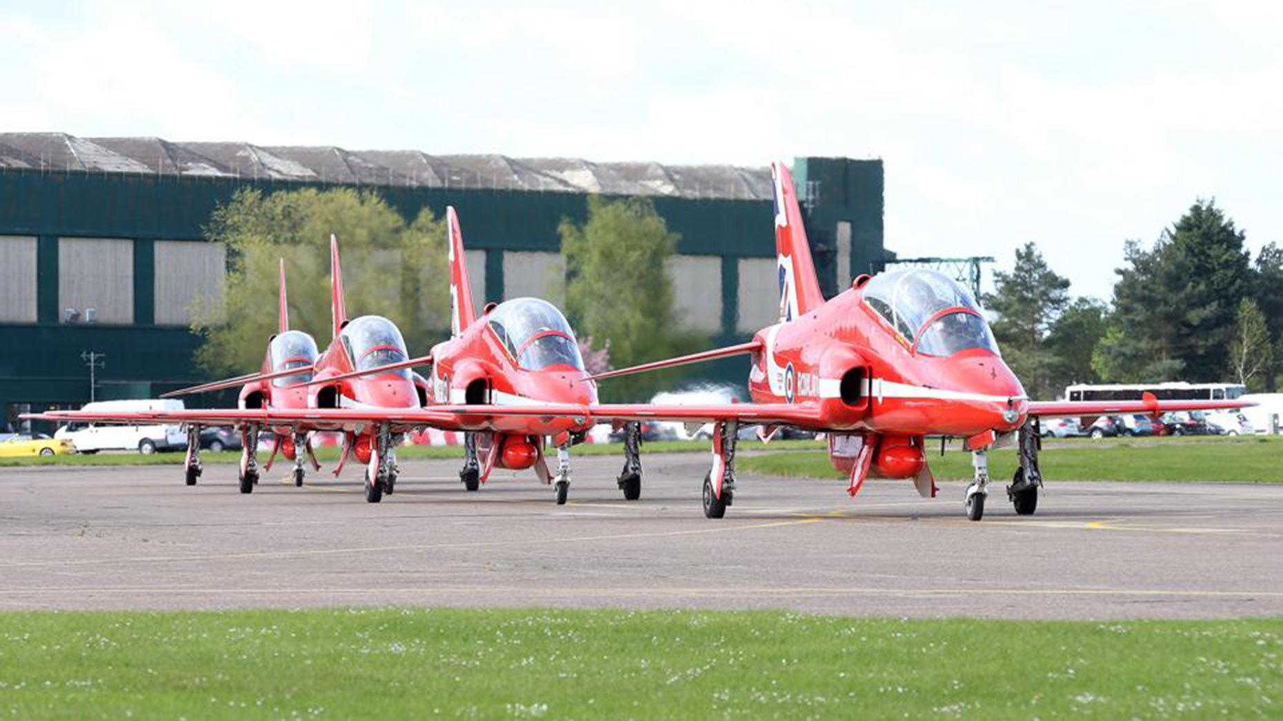 The Red Arrows returning to their RAF Scampton base. Photo: RAF Red Arrows