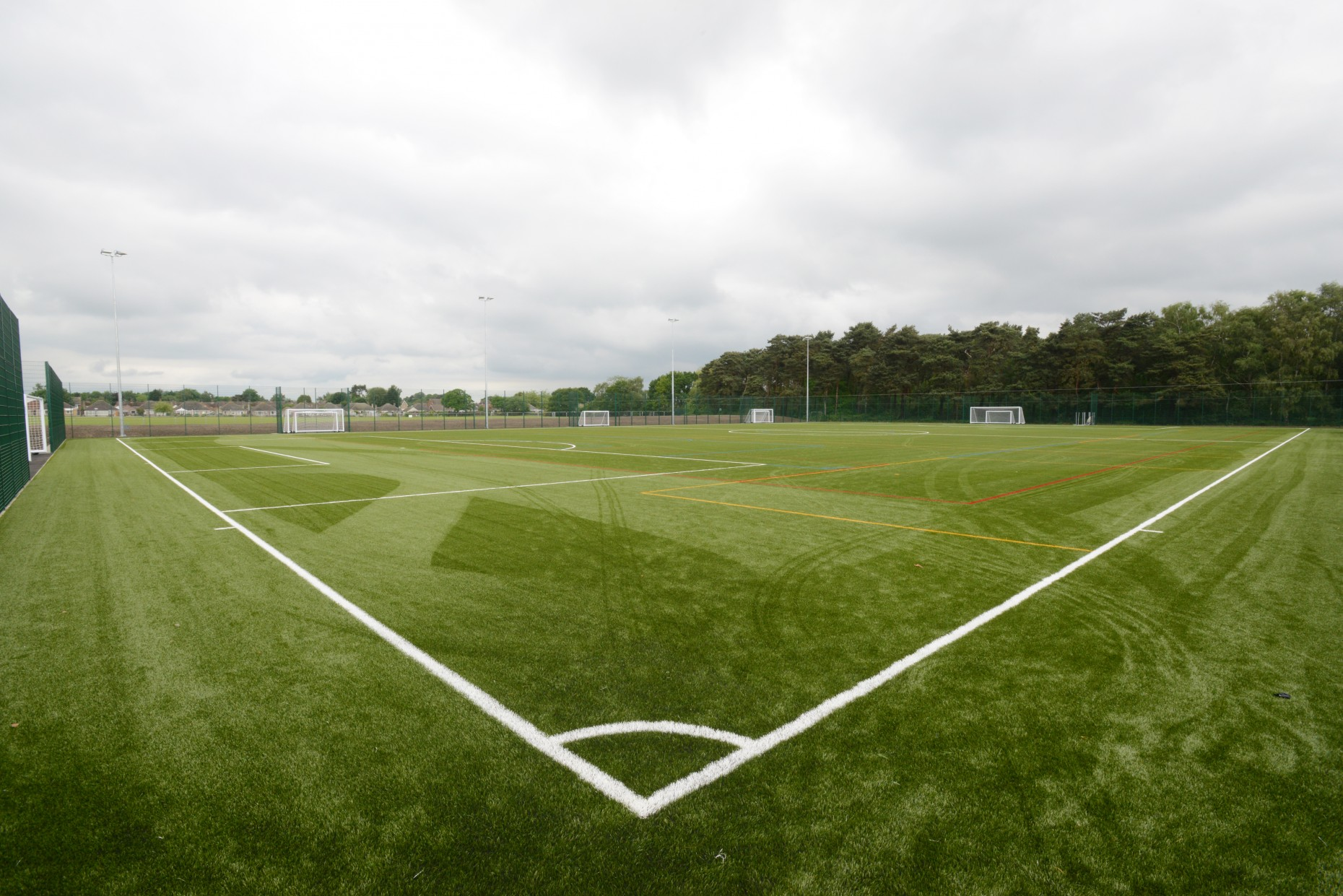 The school's new 3G artificial pitch was made possible after significant grants.