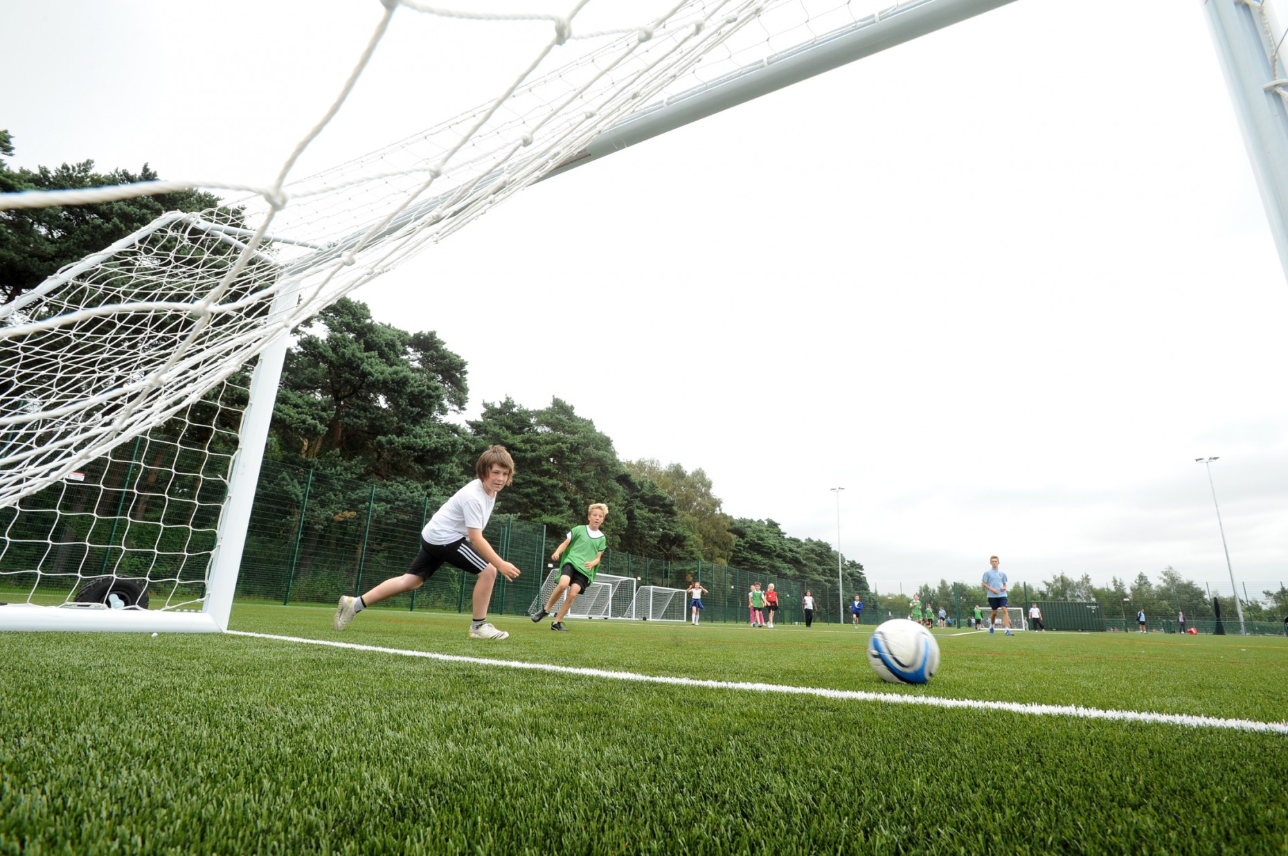 The all-weather facility, which is marked out for 11-a-side and five-a-side matches,