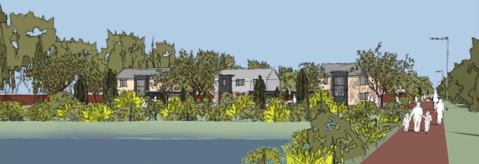 Artist Impression of the proposed development. Design: Core Architects.