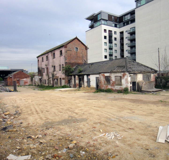 The former Pea Warehouse on the site known as Wigford Yard.