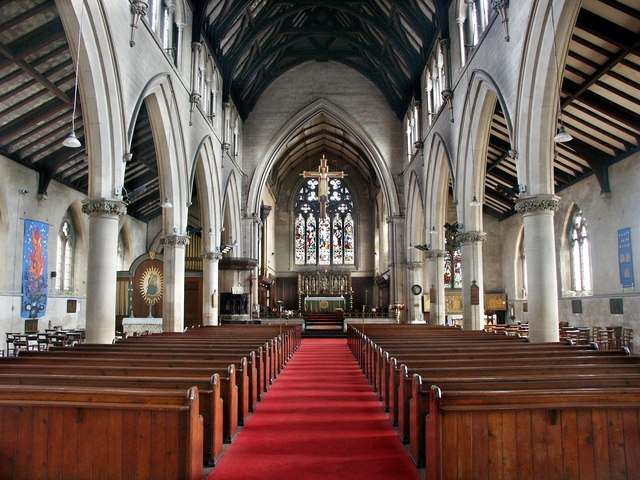 Interior of the Church of St Swithins in Lincoln. Photo: Dave Hitchborne