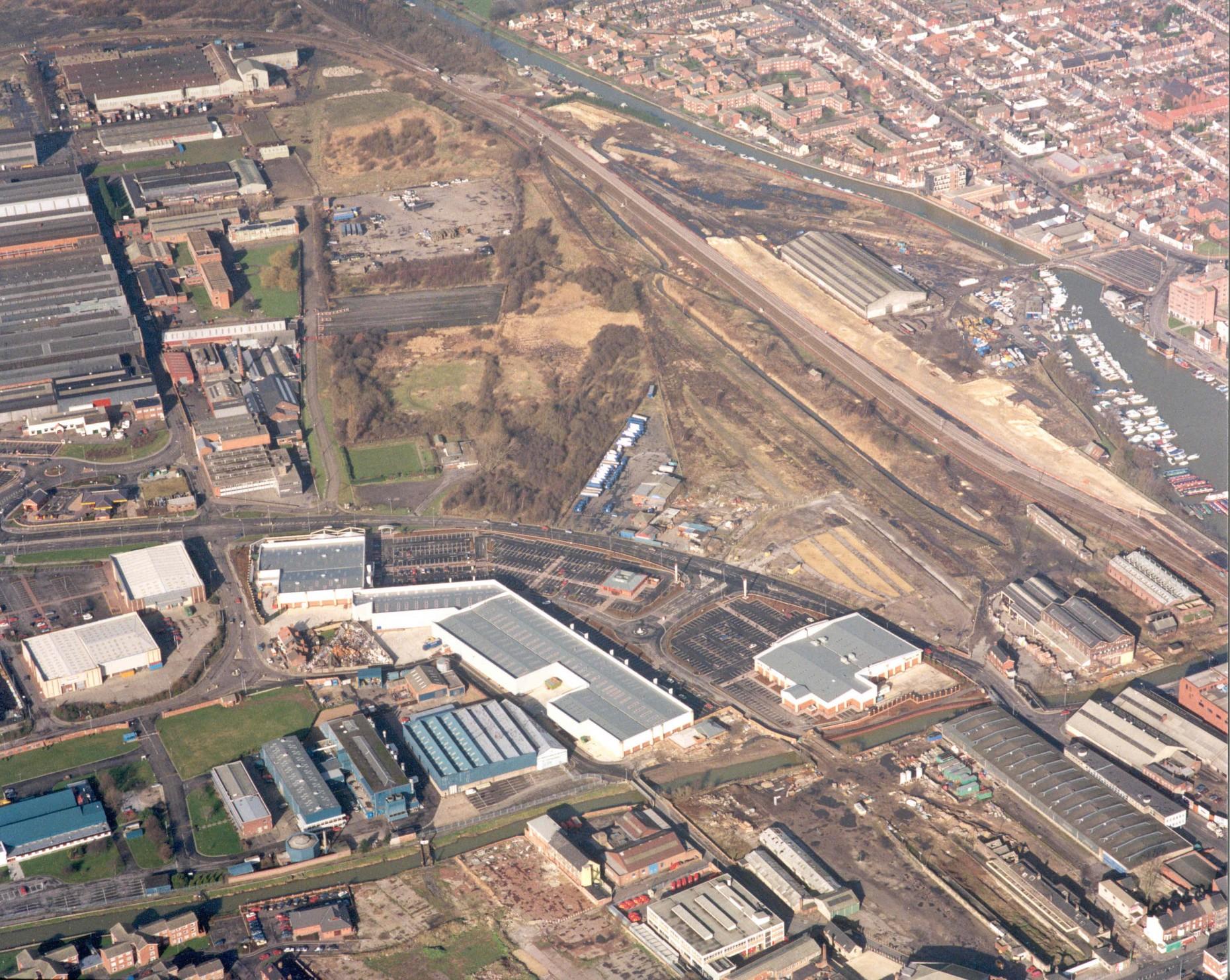 The Brayford campus in 1995
