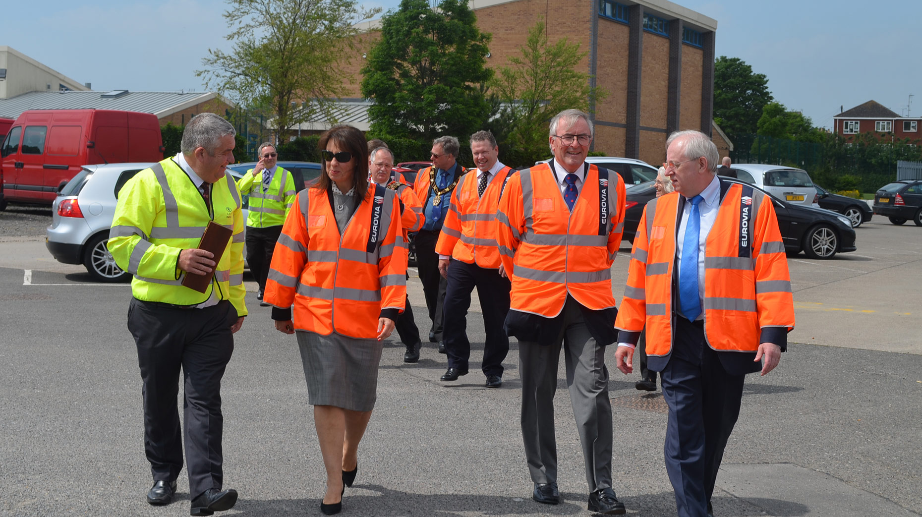 Council representatives and guests marked the completion of the project.