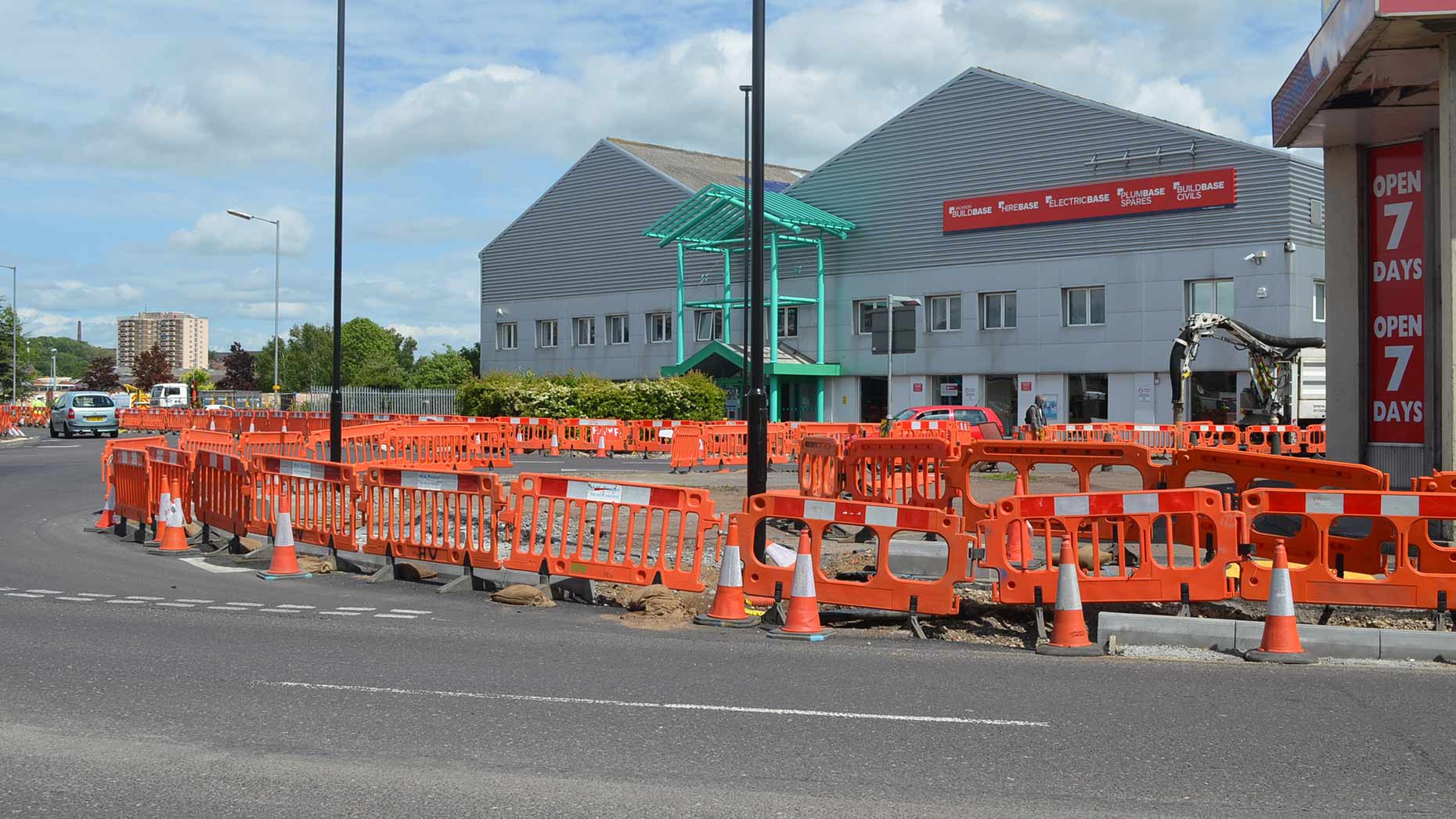 Work is still ongoing to complete the pedestrian improvements. Photo: Emily Norton for The Lincolnite