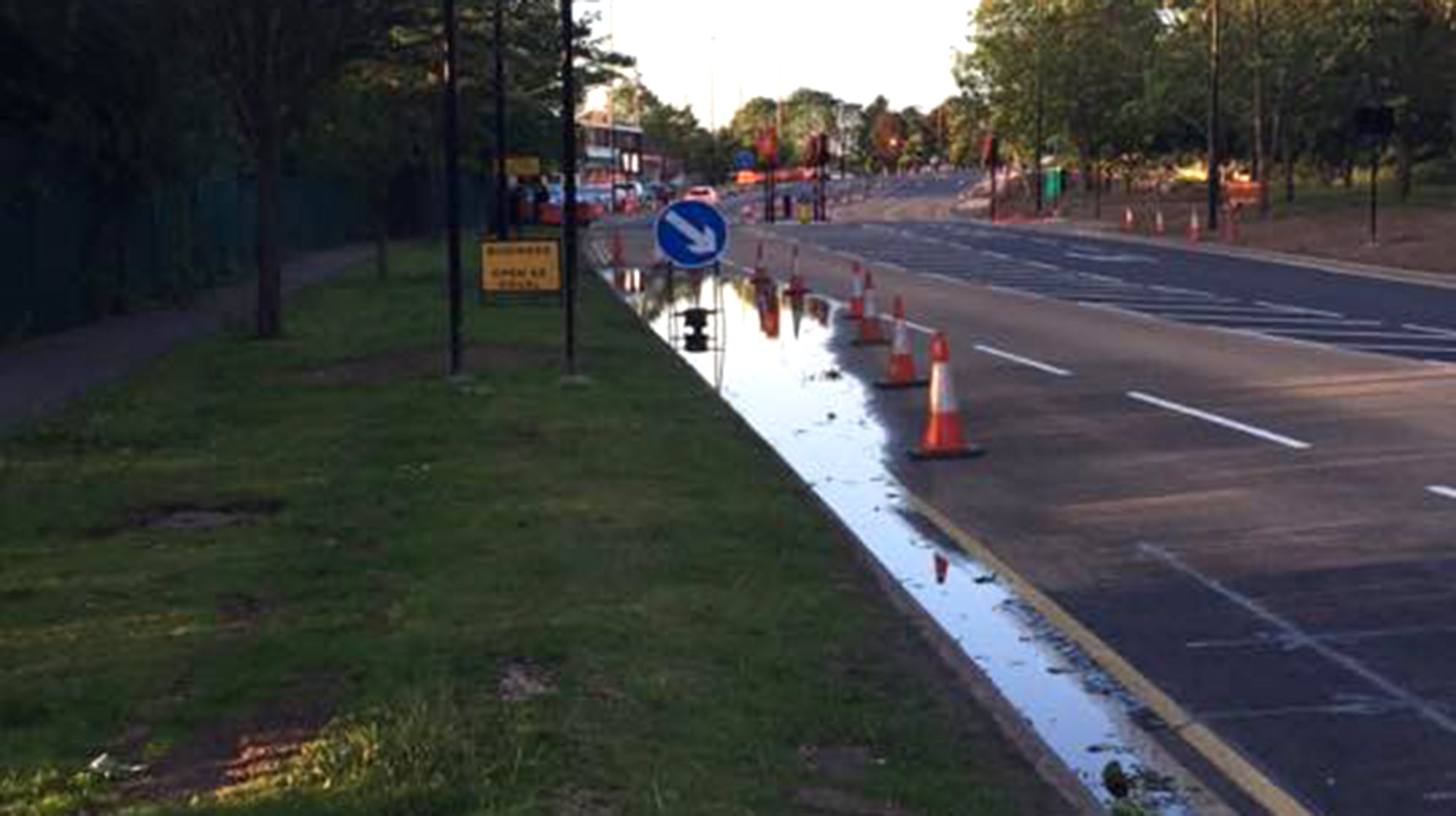 People complained that there was still an issue with standing water in the area. Photo: Craig Roberts