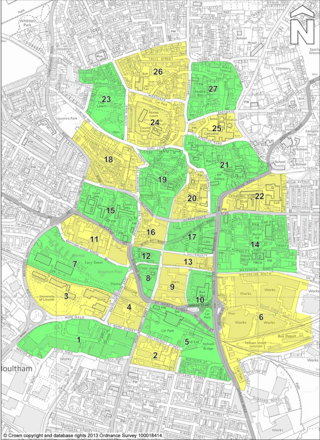 The Lincoln evacuation zoning system. Click to enlarge.