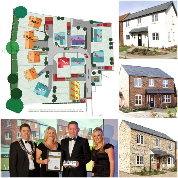 The development features 15 individual properties, two miles from the centre of Lincoln.