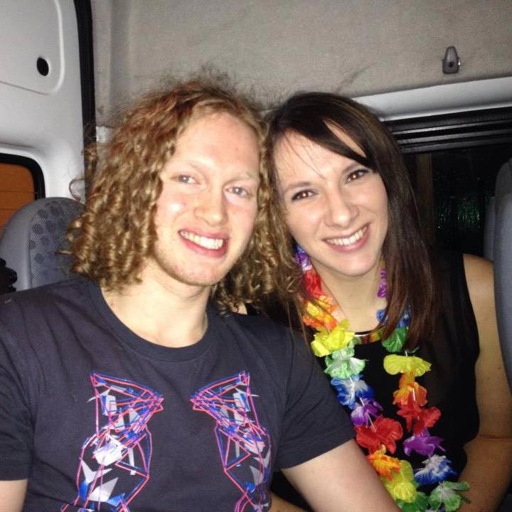 Carly Lovett with her fiancé Liam.