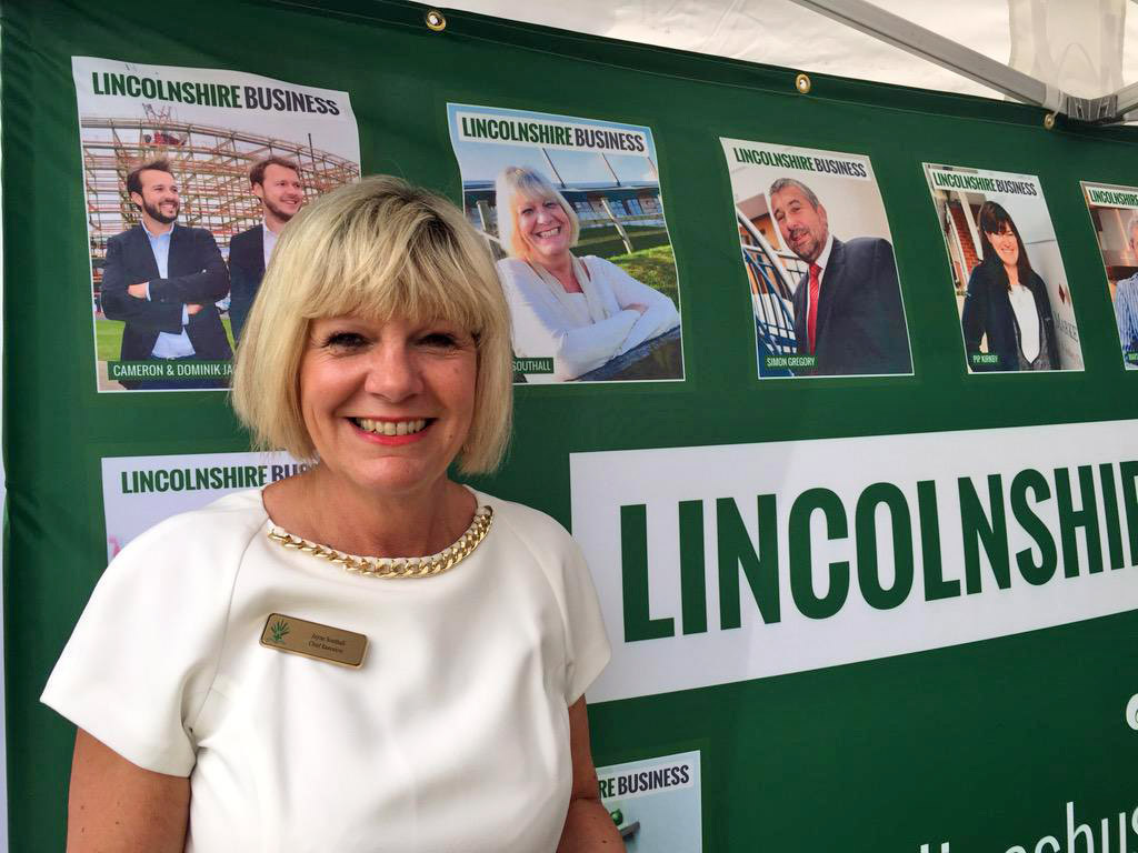 Jayne Southall, CEO of the Lincolnshire Showground, at The Lincolnite and Lincolnshire Business stand.