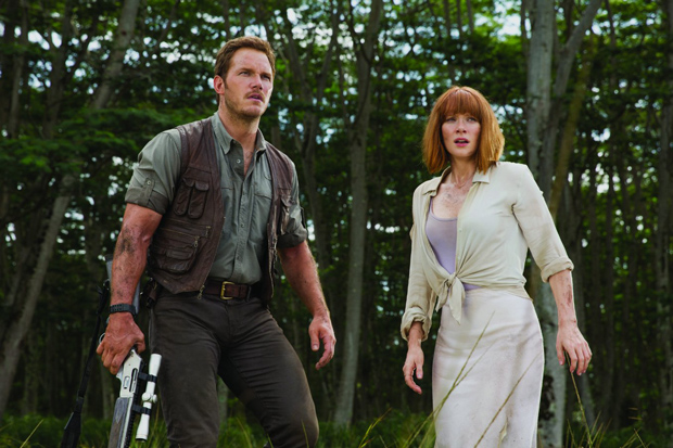 Bryce Dallas Howard and Chris Pratt in Jurassic World (2015). Photo:  Universal Pictures