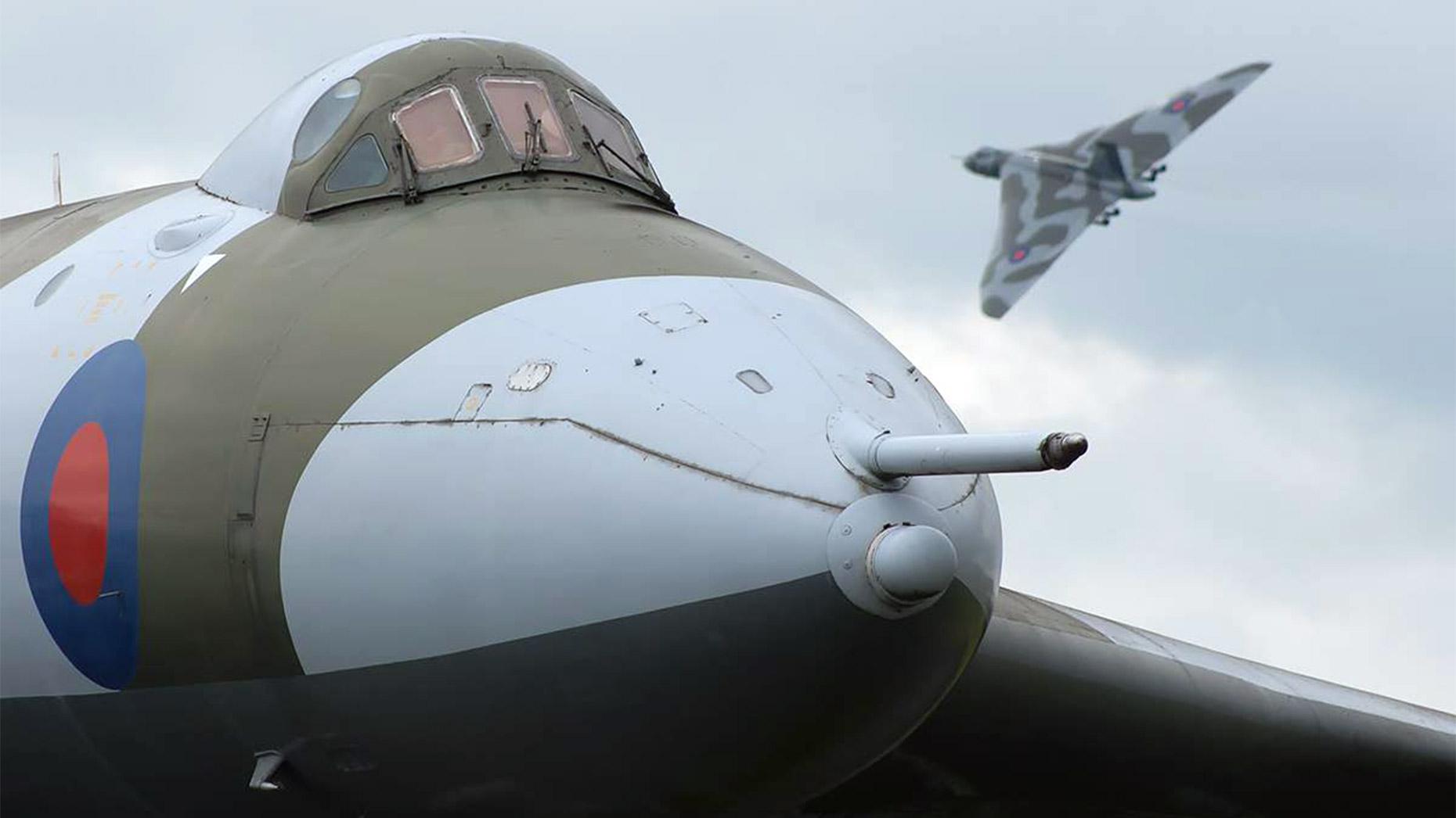 The Vulcan flypast over RAF Waddington on June 28, 2015. Photo: Daniel Kennedy