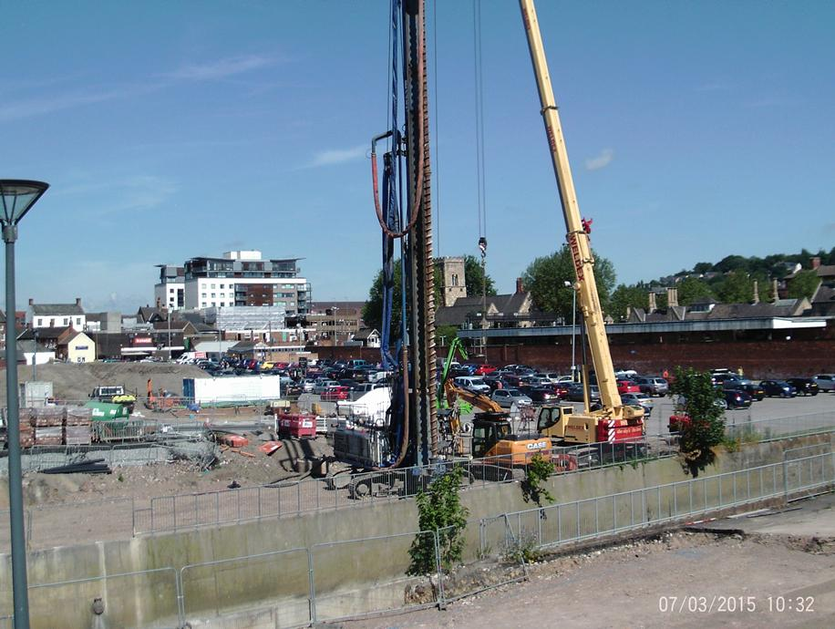 A piling rig can be seen at Tentercroft Street ready for work to begin on the foundations of the new bridge. Photo: LCC
