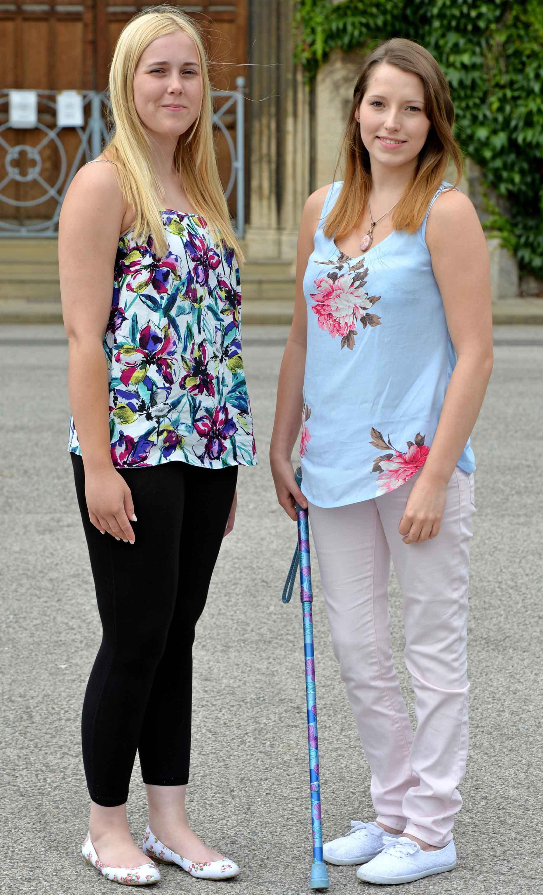 Kate Hunter (left) and Beth Dyson (right) Photo: John Aron