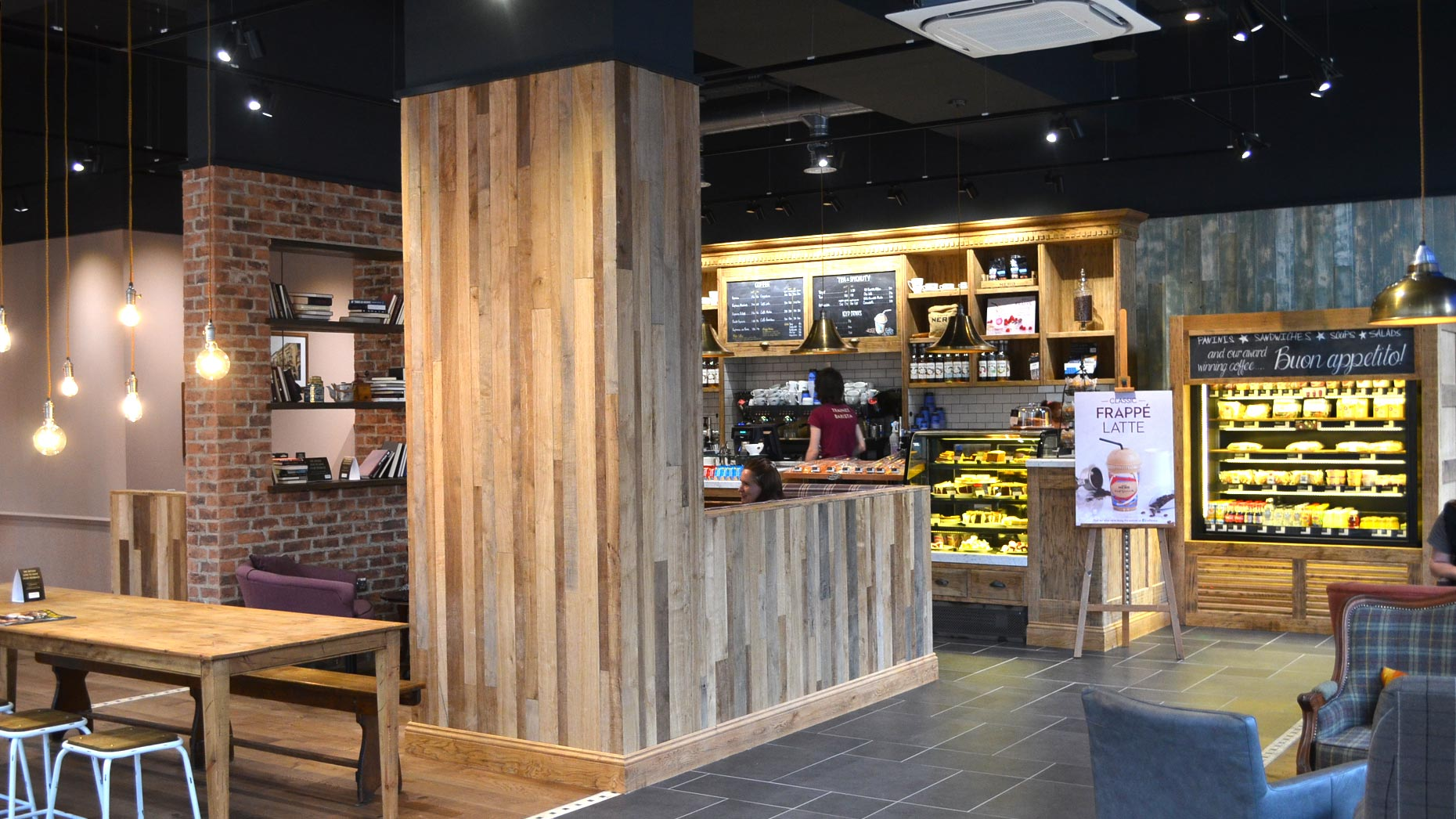 Inside the new Caffe Nero in St Marks.