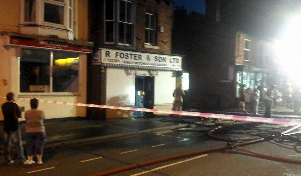 The fire was extinguished at around 9.35pm.
