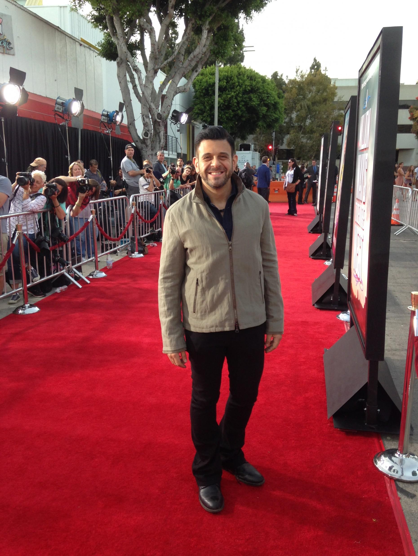 Adam Richman on the red carpet. Photo: BG Colby